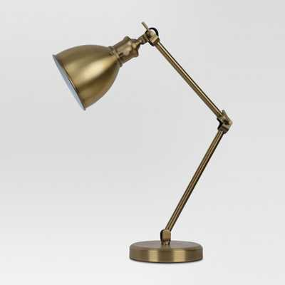 Industrial Task Table Lamp Brass Lamp Only - Threshold - Target