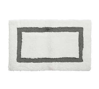 "Morgan Memory Foam Bath Rug, 21x34"", Flagstone - Pottery Barn"