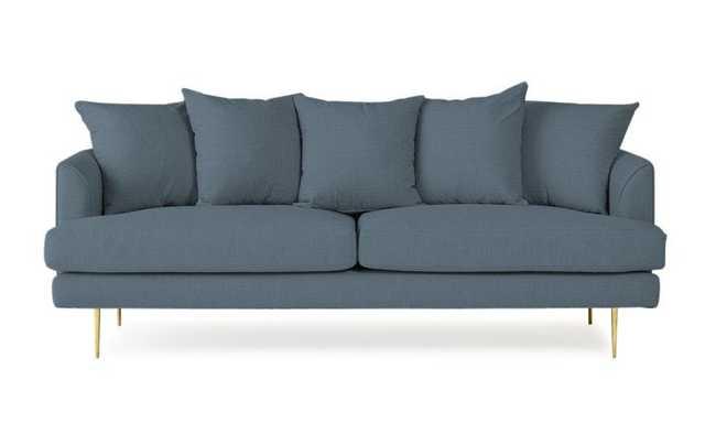 Blue Aime Mid Century Modern Sofa - Mixology Indigo - Joybird