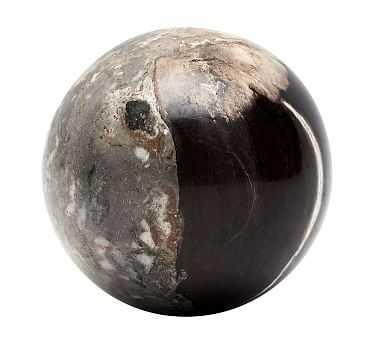 Petrified Wood Spheres, Black, Medium - Pottery Barn