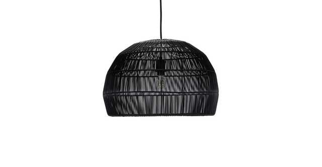 "Bali Black 22"" Pendant Lamp - Article"