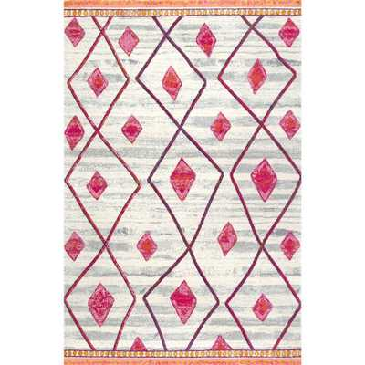 Melissa Moraccoa Trellis Pink 5 ft. x 7 ft. 5 in. Area Rug - Home Depot