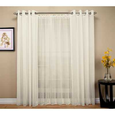 Ricardo Trading Sheer 54 in. W x 96 in. L Grommet Curtain Panel in Ivory - Home Depot