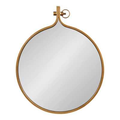 Yitro Round Gold Wall Mirror - Home Depot