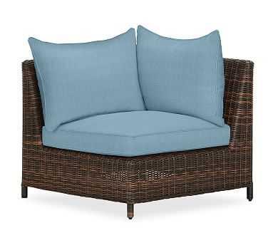 Torrey Sectional Corner Cushion Slipcover, Sunbrella(R) Horizon - Pottery Barn