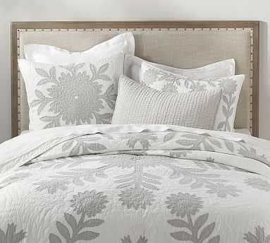 Lilo Quilt, King/Cal King, Gray - Pottery Barn