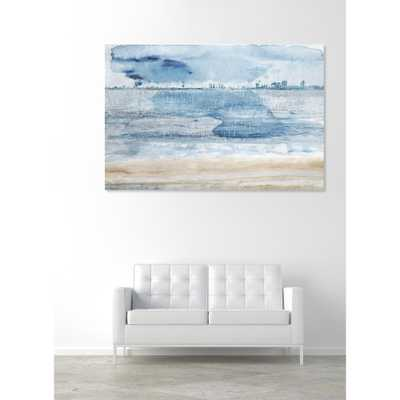 "24 in. x 16 in. ""Miami Bay"" by Oliver Gal Printed Framed Canvas Wall Art - Home Depot"