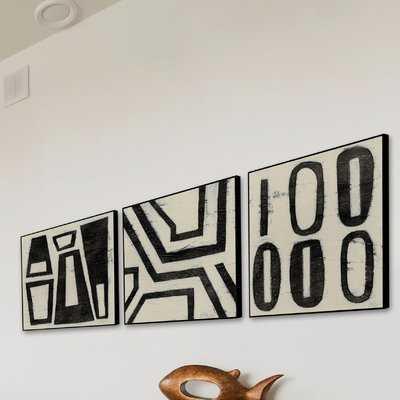 'Hieroglyph' Triptych - AllModern