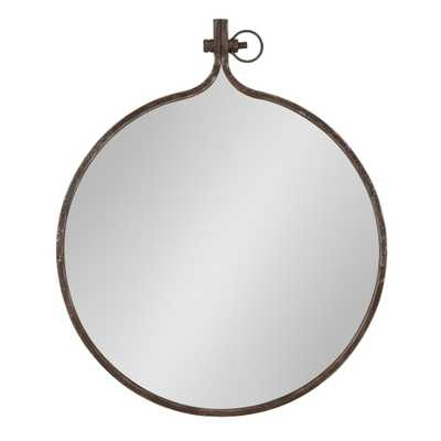 Yitro Round Wall Mirror Other Bronze - Home Depot