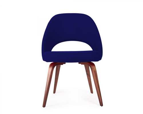 Executive Side Chair - Wood Legs - Walnut Stain Tanzanite - Rove Concepts