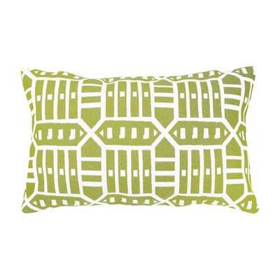 Astella Roland Green Lumbar Outdoor Accent Throw Pillow - Home Depot