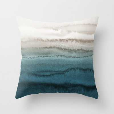 """Within The Tides - Crashing Waves Teal Throw Pillow - Indoor Cover (16"""" x 16"""") with pillow insert by Monikastrigel - Society6"""