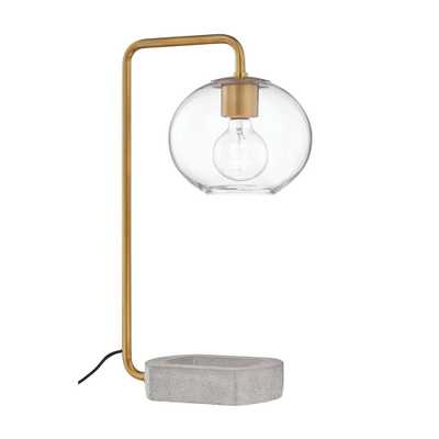 Mitzi by Hudson Valley Lighting Margot 20.5 in. Aged Brass Table Lamp - Home Depot