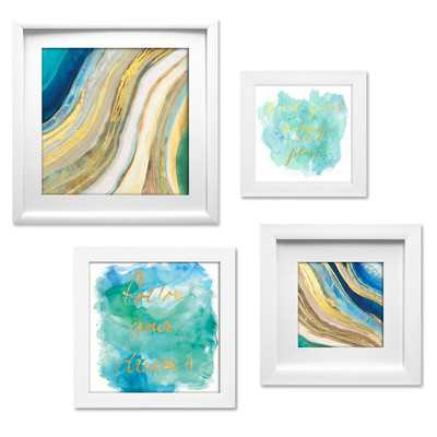 Geode Collage 4 Piece Framed Graphic Art Set - Wayfair