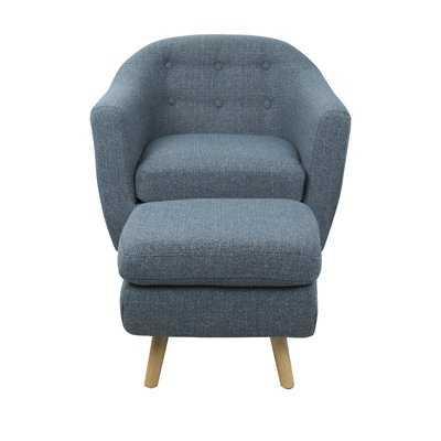 Henley Barrel Chair and Ottoman - Wayfair