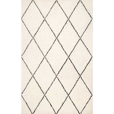 Arruda Hand-Tufted Wool Ivory/Black Area Rug - Wayfair