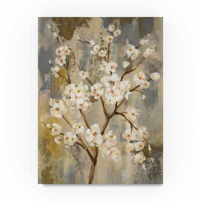 'Neutral Branches I Crop' Acrylic Painting Print on Wrapped Canvas - Wayfair