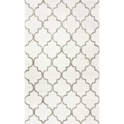 Noirmont Hand-Woven Nickel Area Rug - Wayfair