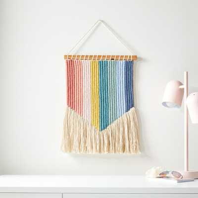 Vertical Rainbow Wall Hanging - Crate and Barrel