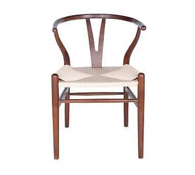 Faith Side Chair, Set of 2, Walnut/Natural - Pottery Barn