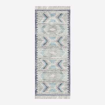 MTO Campo Rug, Blue Teal, 2.5x7 - West Elm
