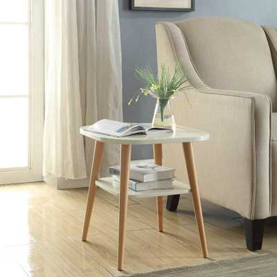 Jellybean White Side Table - Home Depot