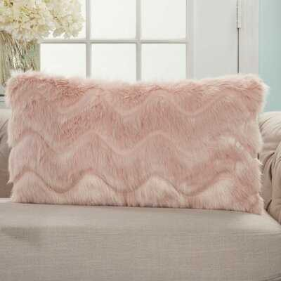 Suttles Chevron Blush Pink Lumbar Throw Pillow - Wayfair