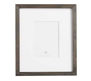 "Wood Gallery Single Opening Frame/ 5"" x 7""/ Charcoal - Pottery Barn"