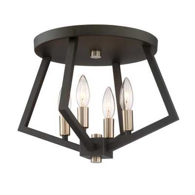 ARTCRAFT 4-Light Bronze Flushmount - Home Depot