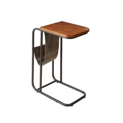 Silverwood Rex Brown and Black Magazine Holder C Table - Home Depot