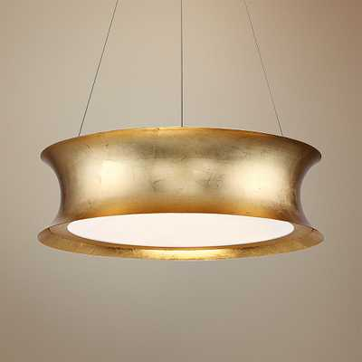 """Modern Forms Tango 20"""" Wide Gold Leaf LED Pendant Light - Style # 55P78 - Lamps Plus"""