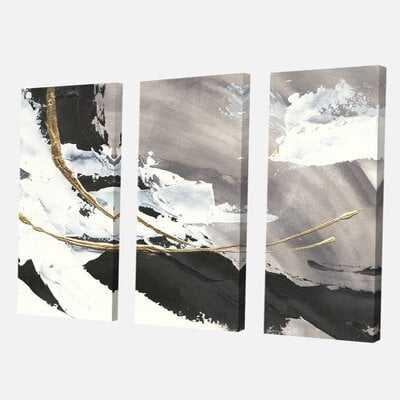 'Glam Painted Arcs II' Painting Multi-Piece Image on Canvas - Wayfair