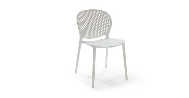 Dot White Dining Chair - Pair - Article