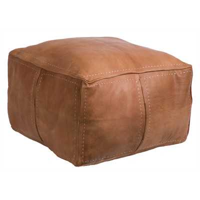 Moroccan Leather Pouf - Wayfair