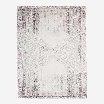 Distressed Ensi Rug, Stone White, 8'x10' - West Elm