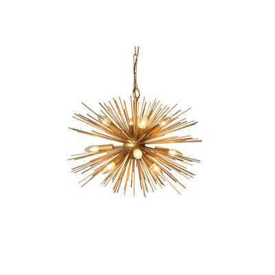 Y Decor 12-Light Gold Chandelier - Home Depot