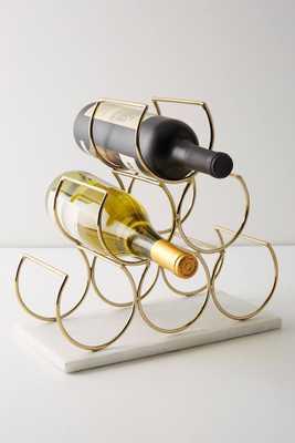 Brass Wine Rack - Anthropologie