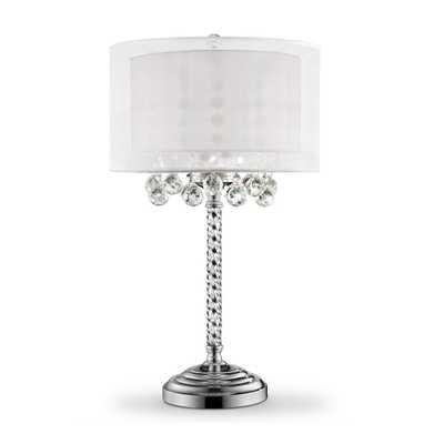 Ore International 30 in. 3-Bulb Moiselle Crystal Table Lamp - Home Depot