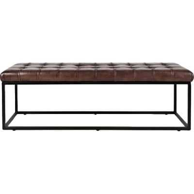 Carroll Genuine Leather Bench - AllModern