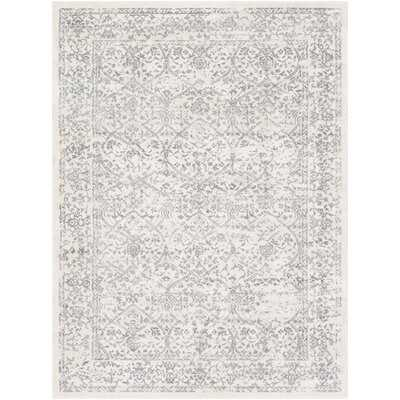 Mac Distressed Floral Silver/Ivory Area Rug - Wayfair