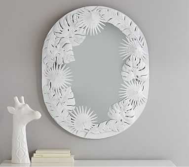 White Oval Palm Mirror - Pottery Barn Kids