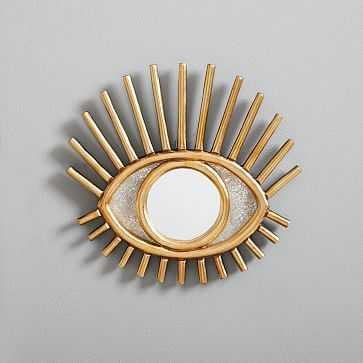 Peruvian Wall Mirror, Gold Eye - West Elm