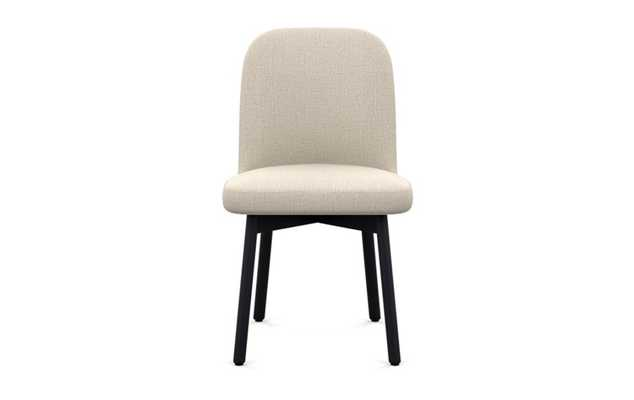 Dylan Dining Chair with Natural Fabric and Matte Black legs - Interior Define