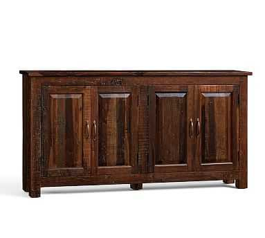 Bowry Large Reclaimed Wood Media Console, Rustic Reclaimed Finish - Pottery Barn