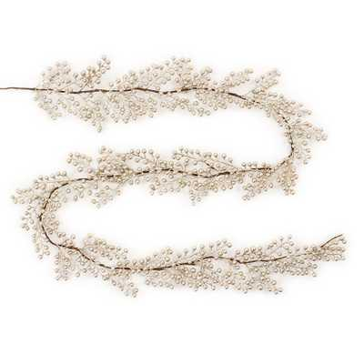 6' Christmas Unlit Champagne (Beige) Berry Artificial Garland - Wondershop - Target