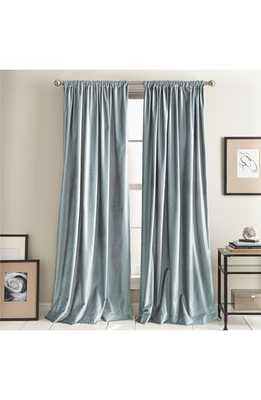Dkny Modern Slub Velvet Set Of 2 Window Panels, Size 50x96 - Blue - Nordstrom