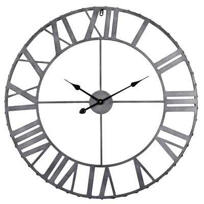 "Rustic Living Oversized 32"" Roman Rivet Edge Wall Clock - Birch Lane"