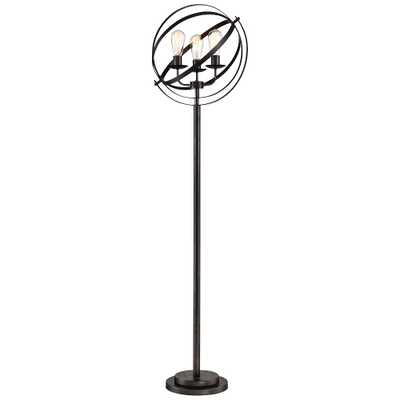 Lite Source Orbiton Black Metal 3-Light Floor Lamp - Style # 69M72 - Lamps Plus