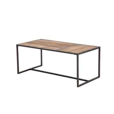 Paxton Natural Brown Cocktail Table - Home Depot