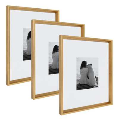 Calter 16x20 matted to 8x10 Gold Picture Frame (Set of 3) - Home Depot